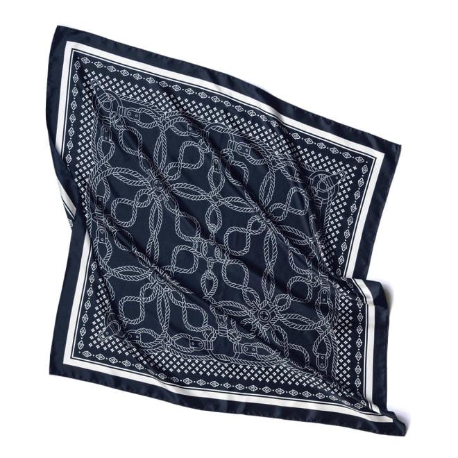 シルク ロープ柄プリント スカーフ