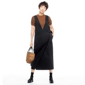 イタリア素材 コットン ジャンパースカート 写真