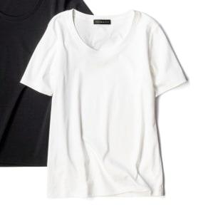 コットンスムース クルーネックTシャツ 写真