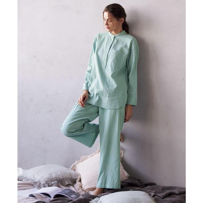 コットンダブルガーゼ デザインパジャマ コーディネート例