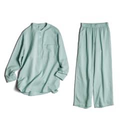 コットンダブルガーゼ デザインパジャマ
