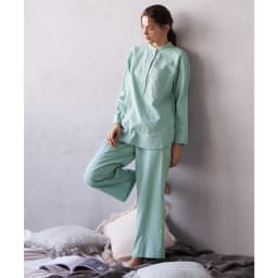 コットンダブルガーゼ デザインパジャマ 着用例