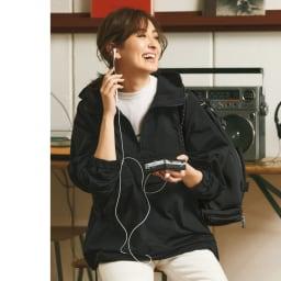 SETENS/セテンス ロゴプリントTシャツ (ア)オフホワイト コーディネート例