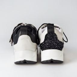 JETEE/ジュテ メッシュ使いスニーカー 左から(イ)ブラック (ア)ホワイト