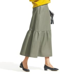 フェイクレザー ティアードスカート 写真