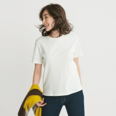 スビンギザコットン ワイドリブ半袖Tシャツ