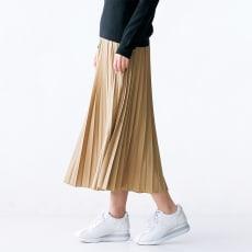 トリコット素材 プリーツ スカート
