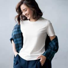 洗えるハイゲージコットンベア天竺シリーズ クルーネック 半袖 Tシャツ