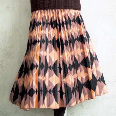 幾何学プリントプリーツスカート