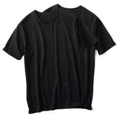 ジャパンメイド クルーネック Tシャツ(同色2枚組)
