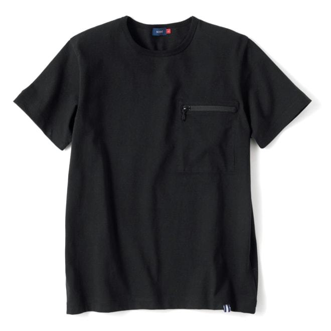 ヴィンテージ スマホポケットTシャツ (イ)ブラック
