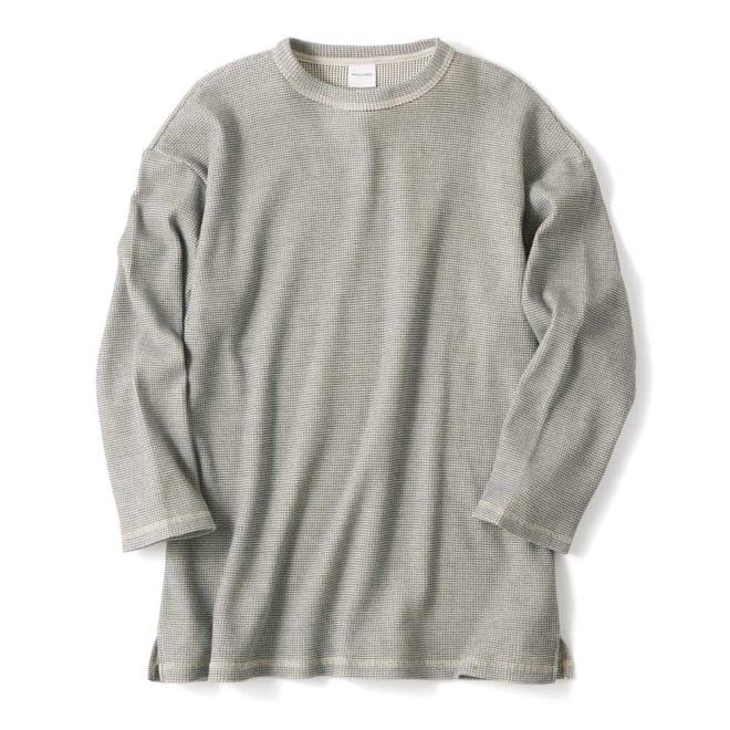 7分袖サーマルTシャツ (イ)グレー系