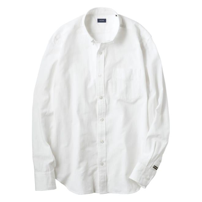 SCENE(R)/シーン コットンリネン ワッシャー加工 シャツ(日本製) スリム