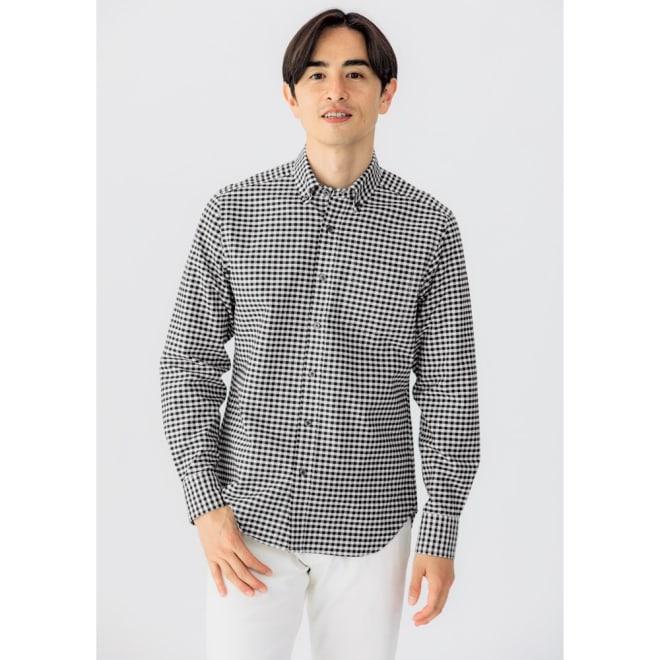SCENE(R)/シーン 7DAYSジャパンメイドシャツシリーズ オックスギンガム コーディネート例