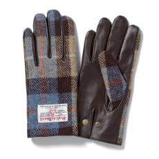 「Harris Tweed」 ラムレザー使い手袋