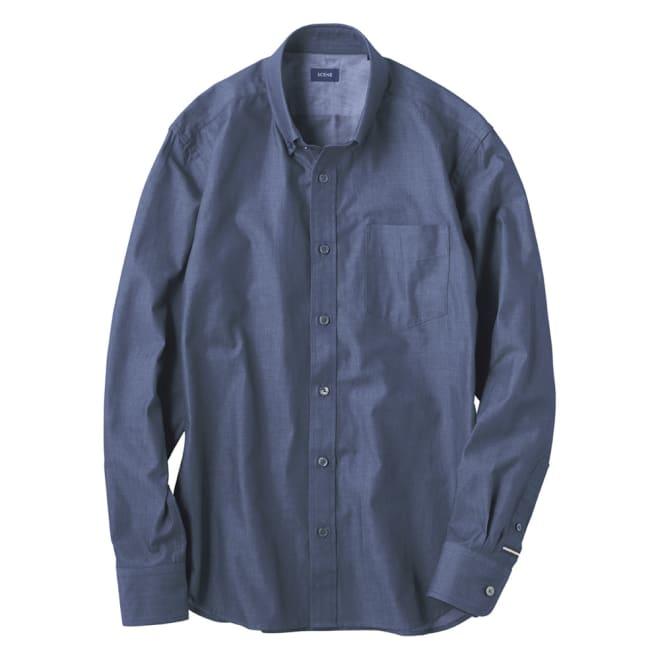 SCENE(R)/シーン デニム調 ツイルシャツ(日本製) スリム