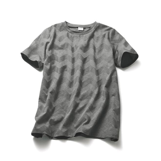 リンクス編みTシャツ (ア)グレー