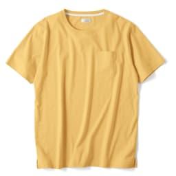 「i cotoni di ALBINI」 超長綿ドレスTシャツシリーズ クルーネック (カ)イエロー(web限定色)