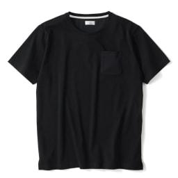 「i cotoni di ALBINI」 超長綿ドレスTシャツシリーズ クルーネック (イ)ブラック