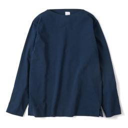 フランス「BUGIS」社 バスクシャツシリーズ ロングスリーブ (エ)ネイビー無地