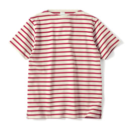 フランス「BUGIS」社 バスクシャツシリーズ ショートスリーブ (カ)レッドボーダー(web限定色)
