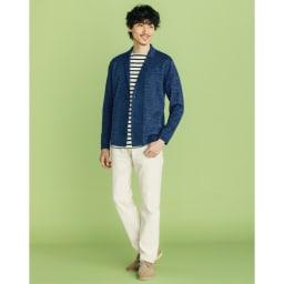 フランス「BUGIS」社 バスクシャツシリーズ ショートスリーブ (ア)ネイビーボーダー コーディネート例