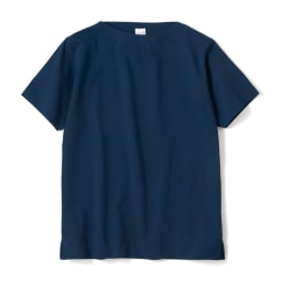 フランス「BUGIS」社 バスクシャツシリーズ ショートスリーブ (エ)ネイビー無地