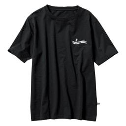「GRAMICCI(R)」 ランニングマンロゴTシャツ (イ)ブラック