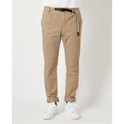 「GRAMICCI(R)」 オーガニック コットンパンツ すっきりした美脚ライン 膝下から裾に向かって細身になっていくテーパードシルエット。美脚に見えると評判です。