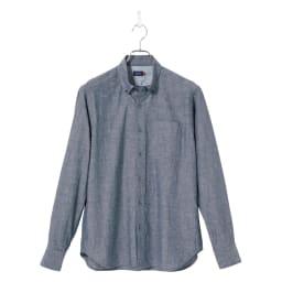 SCENE(R) 7DAYS ジャパンメイドシャツシリーズ 綿麻ワッシャー 洗いざらしでダンガリー風に着たい綿麻シャツ。