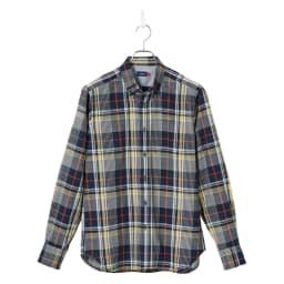 SCENE(R) 7DAYS ジャパンメイドシャツシリーズ リネン混マドラスチェック リネン混チェックのカジュアルな雰囲気を満喫。