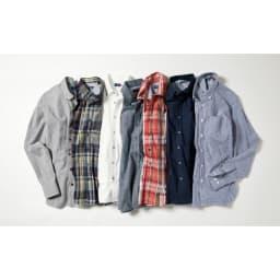SCENE(R) 7DAYS ジャパンメイドシャツシリーズ リネン混マドラスチェック SCENE(R) 7DAYS ジャパンメイドシャツシリーズ