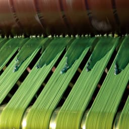 「カイハラ」 ジャパンメイドデニム ヴィンテージ加工ジーンズ 【ロープ染料】ロープ状に取った糸を何度も染料につけ丁寧に染めていきます。