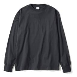 スッキリ袖リブドレスTシャツ (オ)ダークグレー