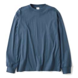 スッキリ袖リブドレスTシャツ (イ)ブルー