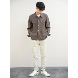 スッキリ袖リブドレスTシャツ 身長:176cm Mサイズ着用