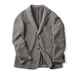 「MAPEL」 スライバーニットジャケット (イ)グレー(web限定色)