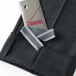 「EMINENT(R)」 ウォッシャブル スラックス エミネント社オリジナルの裾上げテープつきなので、自宅で丈を調整することが可能です。