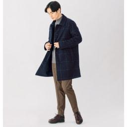 中綿入り リバーシブル ステンカラーコート 着用例