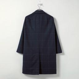 中綿入り リバーシブル ステンカラーコート Back Style