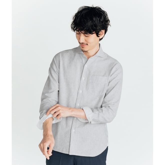 SCENE(R) 今治タオルシャツ (ウ)ストライプ コーディネート例