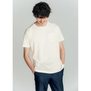 「i cotoni di ALBINI」 超長綿ドレスTシャツシリーズ クルーネック 写真
