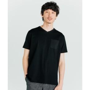 「i cotoni di ALBINI」 超長綿ドレスTシャツシリーズ Vネック 写真