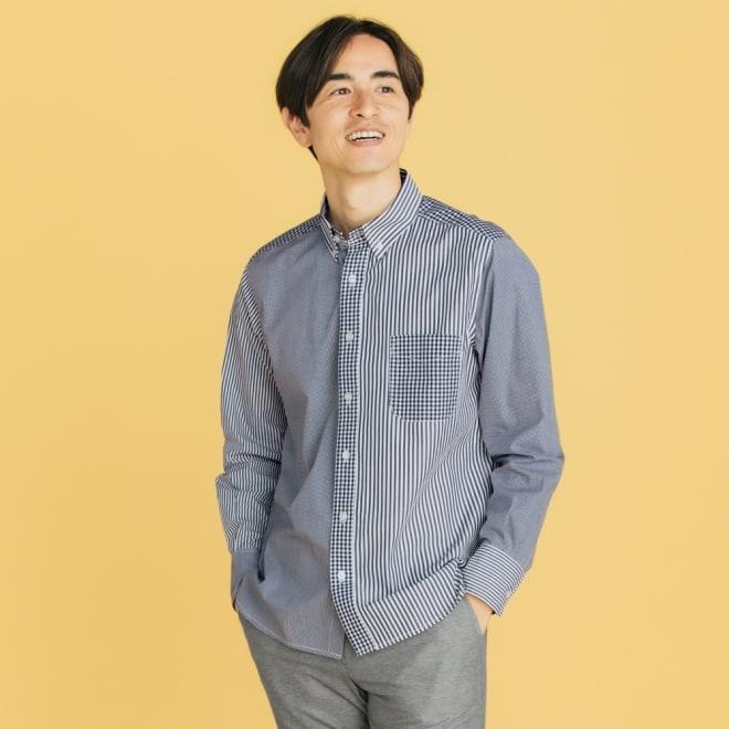 クレイジーパターンシャツ 色や柄を組み合わせるクレイジーパターン。ワントーンだから派手になり過ぎず、大人も着やすい1枚に。