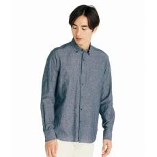 SCENE(R) 7DAYS ジャパンメイドシャツシリーズ 綿麻ワッシャー