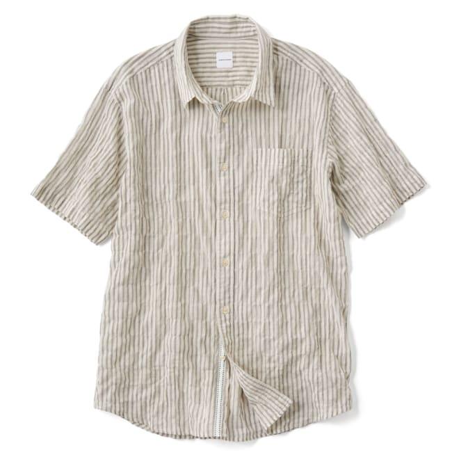 オーガニックコットン ショートスリーブシャツシリーズ シャーリングホワイト
