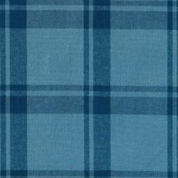 SCENE(R)/シーン 7DAYSジャパンメイドシャツシリーズ ビックチェック レギュラー ブルーの濃淡に、生地洗いをかけてユーズド感を演出。