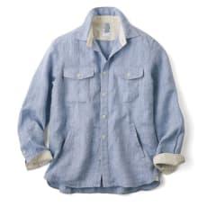 リネンサマートラベル シャツジャケット