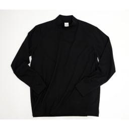 「i cotoni di ALBINI」 超長綿ハイネックTシャツ (エ)ブラック