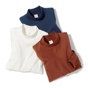 「i cotoni di ALBINI」 超長綿ハイネックTシャツ 写真